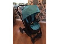 Oyster Pushchair with Ocean colour pack