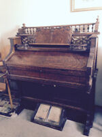 Antique Doherty Pump Organ and stool