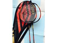 2 Quality carbon lightweight badminton rackets, immaculate, quick sale at £35,more rackets available