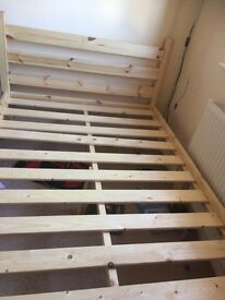 As new Small Double short pine bed