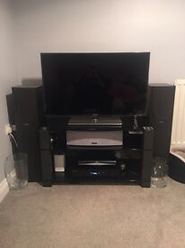 Full surround sound 6 mission speakers and pioneer amplifier