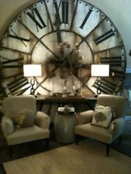 7ft Oversized Wall Clock Home Deco