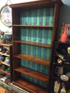 Rustic coastal home painted timber bookcase book shelves Glebe Inner Sydney Preview