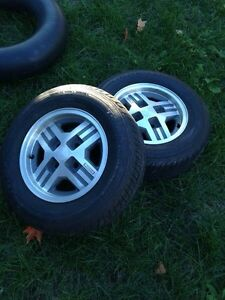 79-85 rx7 wheels and tires MINT Peterborough Peterborough Area image 1