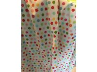 Next Bedroom curtains. Colourful design ideal for Babies bedroom. Smoke and pet free home.