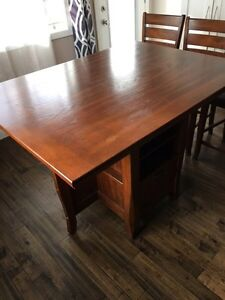 Excellent counter style dining set