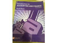 Introduction to Accounting and Finance by Geoff Black
