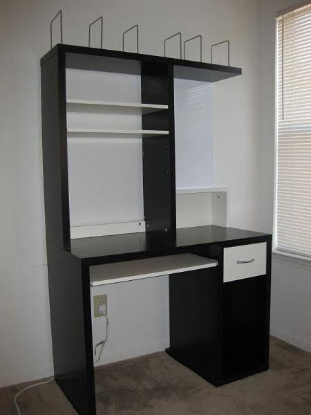 Whiteboard Ikea ikea mikael workstation desk brown black with magnetic whiteboard