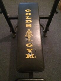 weight bench plush bar and dunbell bars and a few weghits