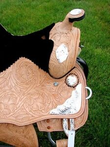 "12"" 13""  Kids Western Pony Leather Youth Saddle Silver Show New London Ontario image 3"