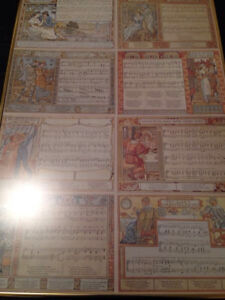 Walter Crane 8 music sheets one print