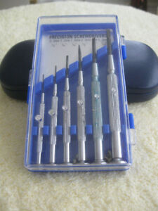 CASE of  PRECISION SCREW DRIVERS...[6 pc.]