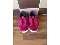 Adidas pink trainers