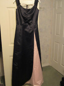 Pink & Black Gown W/Jacket for Wedding or Prom