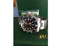 Black Rolex submariner Swiss 2836 eta auto movement ceramic bezel