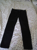 American Eagle Skinny Jeans Size 6 Short Black faded