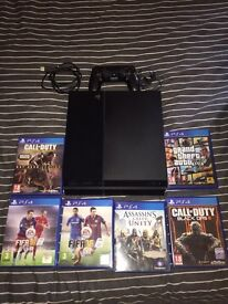 PS4, 6 games, controller and ear piece