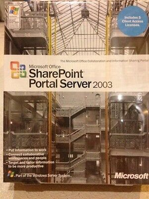 Brand New Microsoft Sharepoint Portal Server 2003   5 Cals