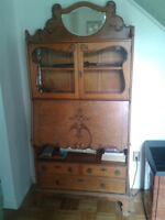 Secretaire Desk - Antique Oak