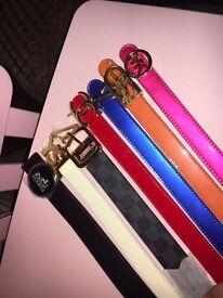 ladies designer belts thin and normal ones any brand or colour for £25 each