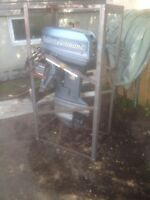 Evinrude 60HP with power tilt, all cables and controls