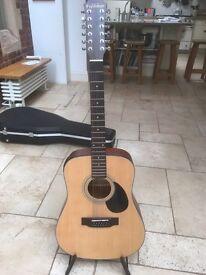 12-string Freshman electro-acoustic guitar
