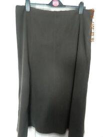 Bon Marche size 18 side zip full length Brown Skirt