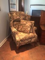 Quality wing back chair