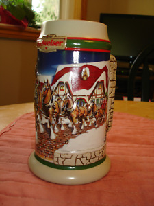 Budweiser and Molson Beer Steins (Vintage)