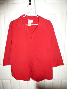 Plus Size 2X Red Blouse