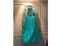Disney Store Elsa dress and gloves 9-10 yrs