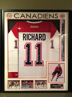 Authentic Henri Richard 11 Cups Signed and Framed Jersey