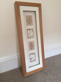 Framed leaf and flower picture - £5