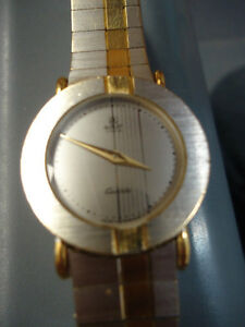 Elegant Azur Two-Tone Ladies Watch with Metal Strap