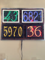 LED lighted House number