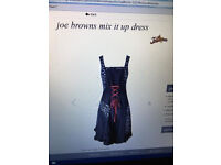 Joe Brown mix it up dress black and red