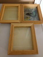 3 Wooden Shadow Boxes