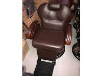 New HEAVY DUTY Brown BARBER CHAIR BX-2685A,CASH ON COLLECTION ONLY