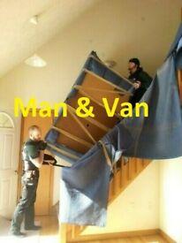ManAndVan working 7 days a week, Aberdeen, Edinburgh, Glasgow, Dundee, Inverness etc