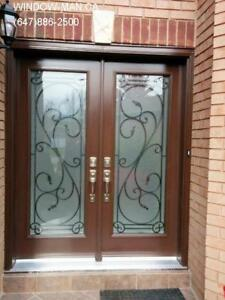 Front Entry Glass Iron Door Entrance  supplier and installer