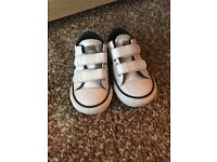 Infant size 4 white leather converse