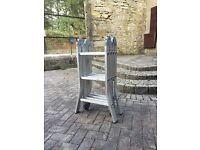 Aluminium folding ladder/s
