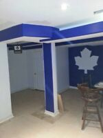Drywall, taping and panting