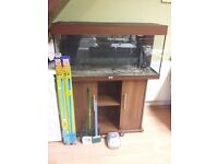 FISH TANK WITH STAND RIO 180 JUWEL