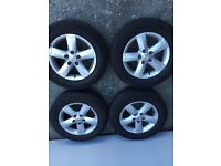 "Alloy wheels Nissan 16"" with tyres"