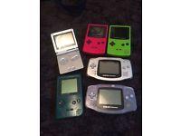 Various Nintendo Gameboy consoles