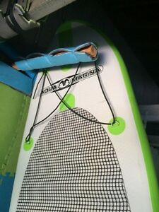 inflatable SUP with adj. glass paddle+extra fin