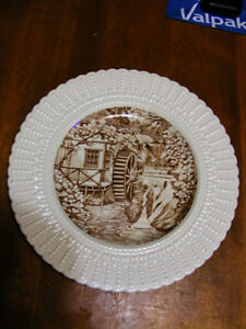 The Water Wheel Plate - Royal Cauldon of England - Pre 1950