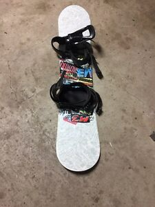 M3 snowboard with bindings