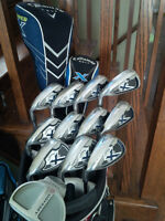 Complete Left Handed Callaway Golf Club Set with Ogio CartBag